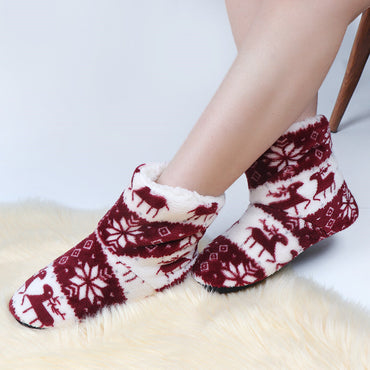 Plush Flip Flop Winter Fur Slippers