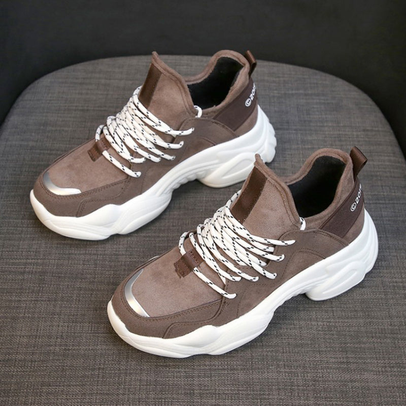 Casual Lace-Up Breathable Sneakers