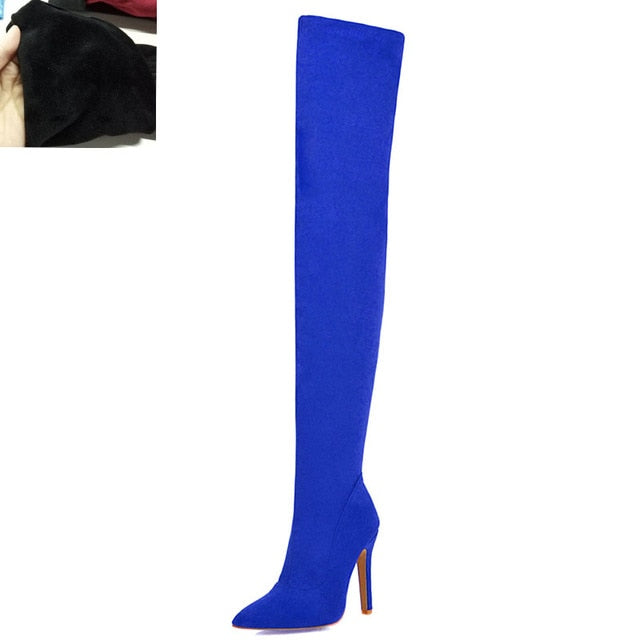 Thin High Heel Over The Knee Boots