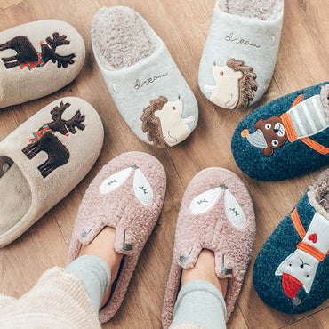 Cute Animal Fox Indoor Warm Slippers