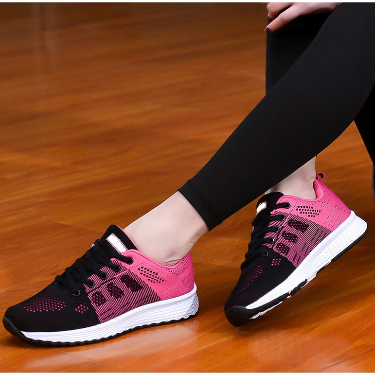 Lace Up Light Walking Mesh Breathable Sneakers