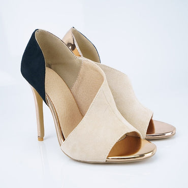 Stiletto Peep Toe Pumps High Heels