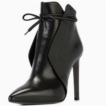 Casual Leather Booties High Heels