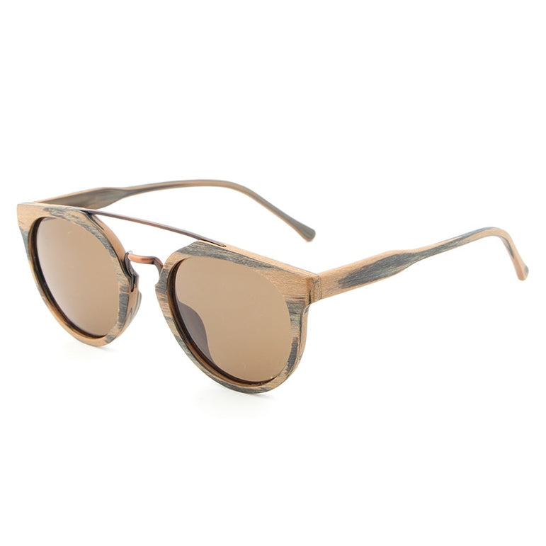 Acetate Vintage Wood Sunglasses For Women