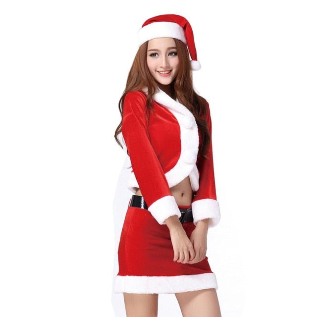 Santa Style Christmas Party Dress