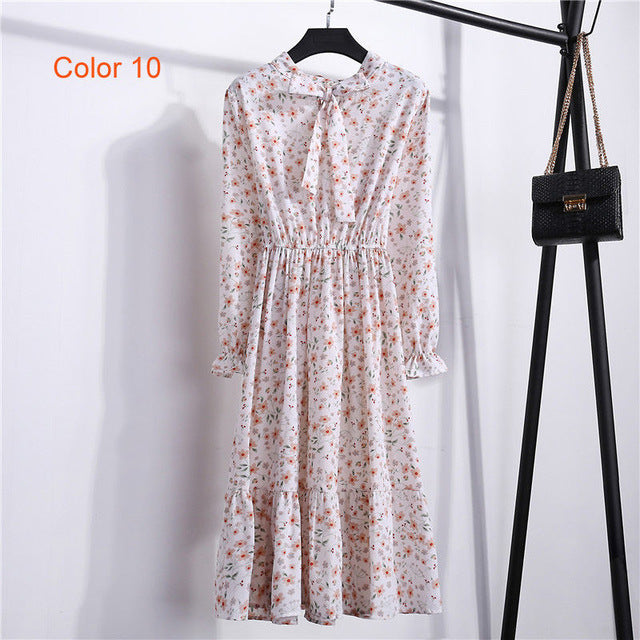 High Elastic Waist A-line Chiffon Party Dress