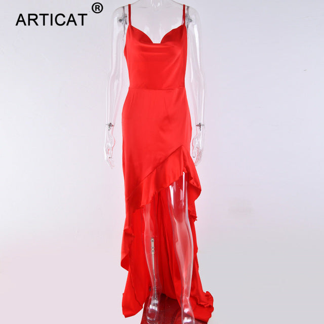 Long Maxi Christmas Backless Dress