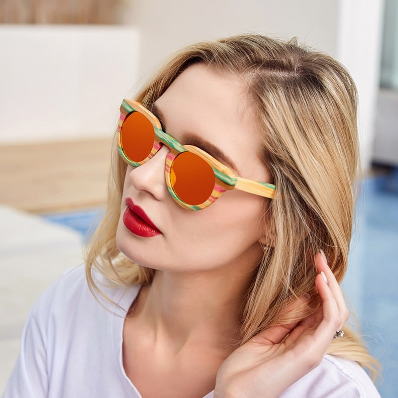 Luxury Bamboo Vintage Polarized Sunglasses