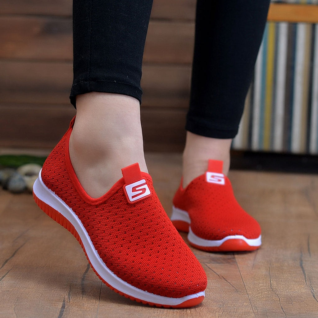 Slip On platform Breathable Air Mesh Sneakers