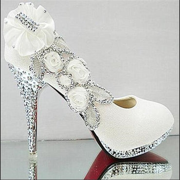 Crystal Glitter Gorgeous Bridal High Heels