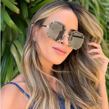 Luxury Vintage Square Oversize sunglasses