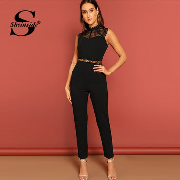 High Waist Skinny Jumpsuits Sleeveless