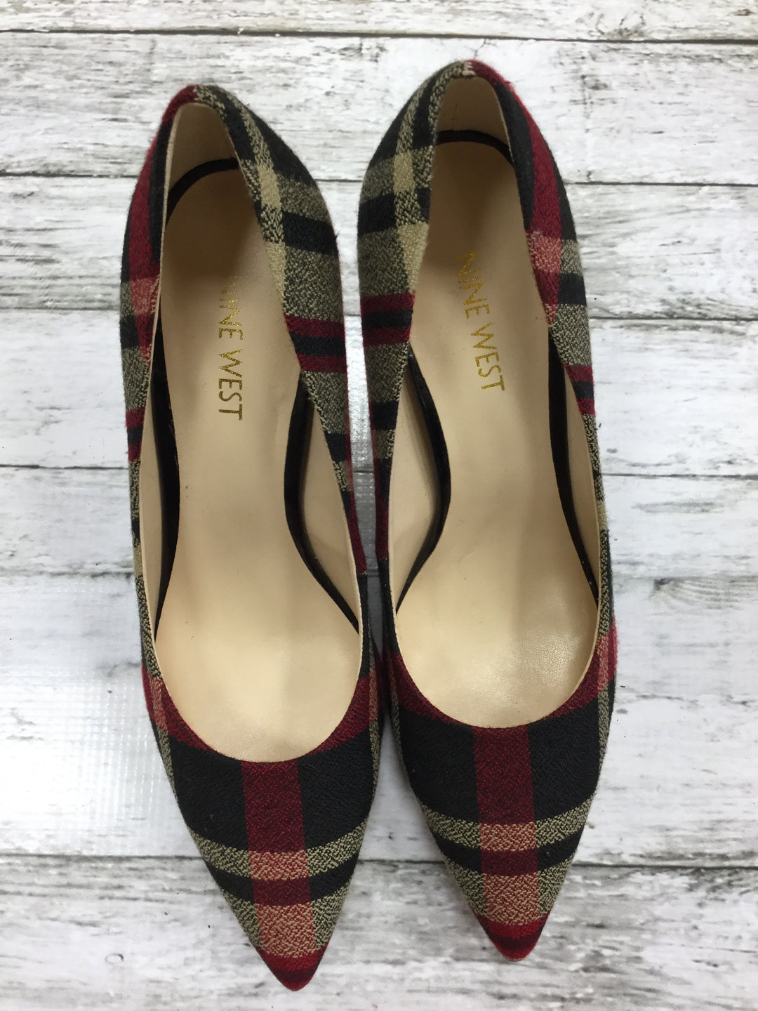 Primary Photo - BRAND: NINE WEST SHOES <BR>STYLE: SHOES LOW HEEL <BR>COLOR: PLAID <BR>SIZE: 7.5 <BR>SKU: 127-4876-5771
