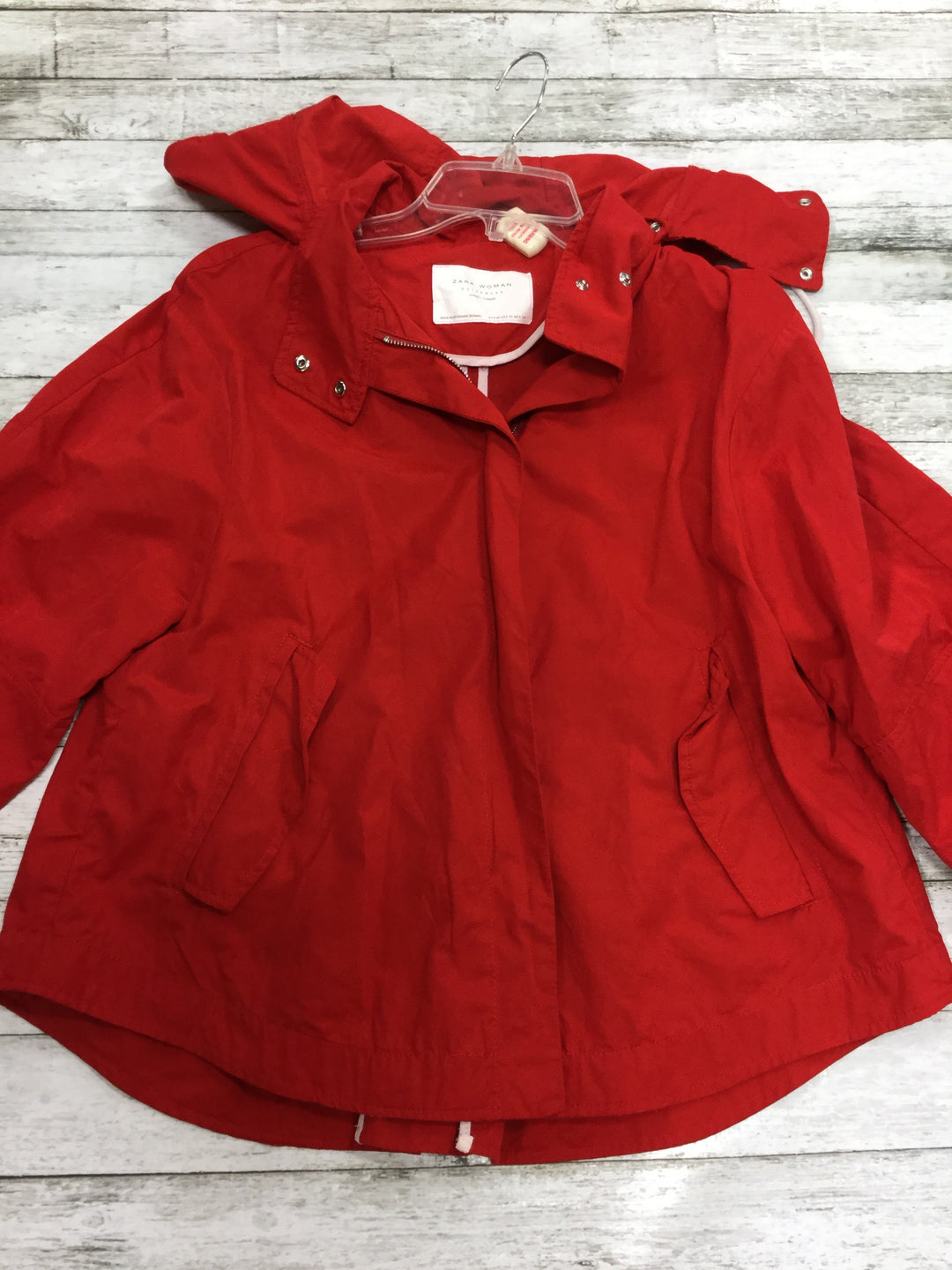 Primary Photo - BRAND: ZARA WOMEN , STYLE: JACKET OUTDOOR , COLOR: RED , SIZE: XS , SKU: 127-2767-82989