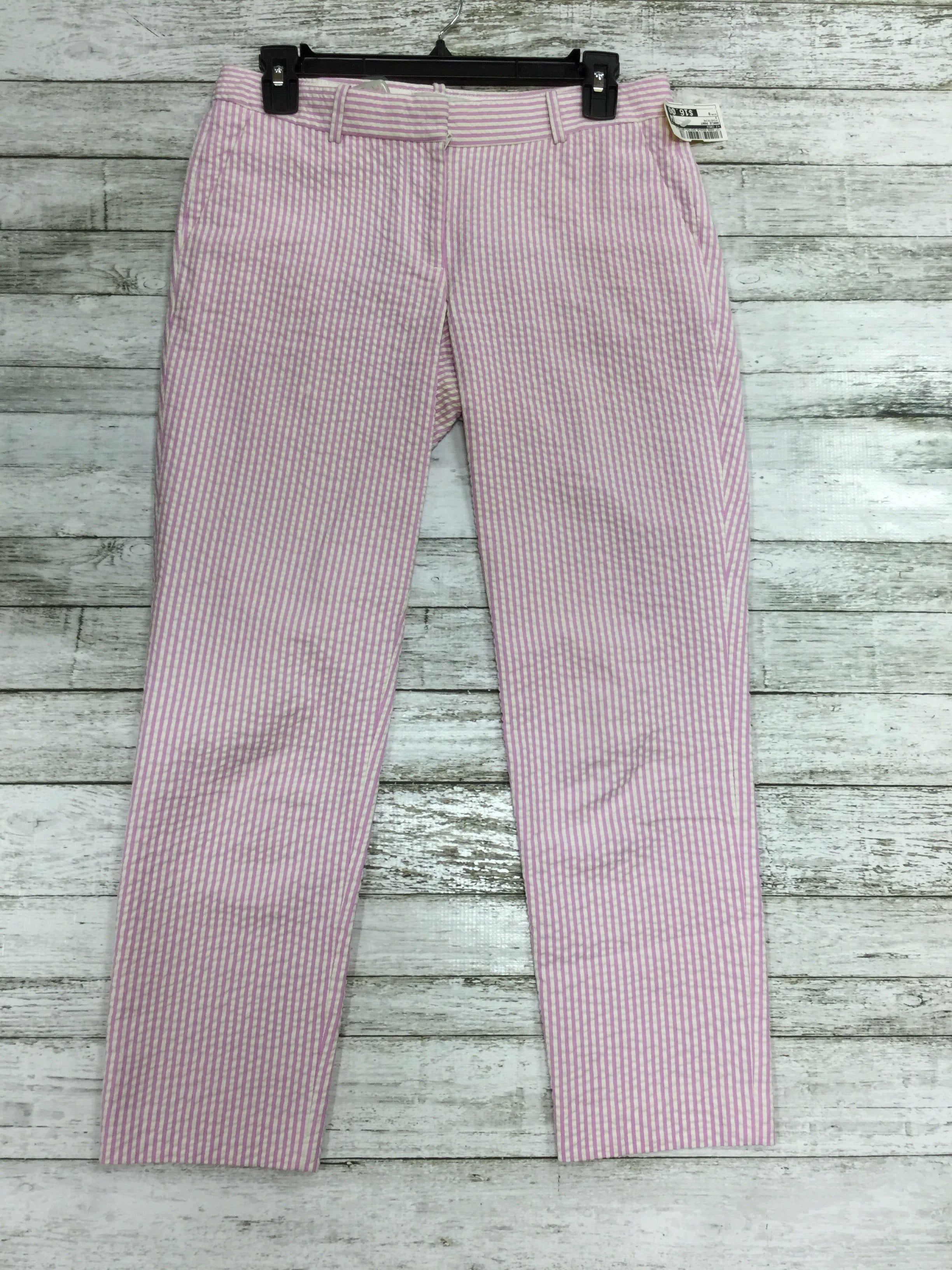 Primary Photo - BRAND: J CREW <BR>STYLE: ANKLE PANT <BR>COLOR: PINSTRIPE <BR>SIZE: 0 <BR>SKU: 127-4008-9569