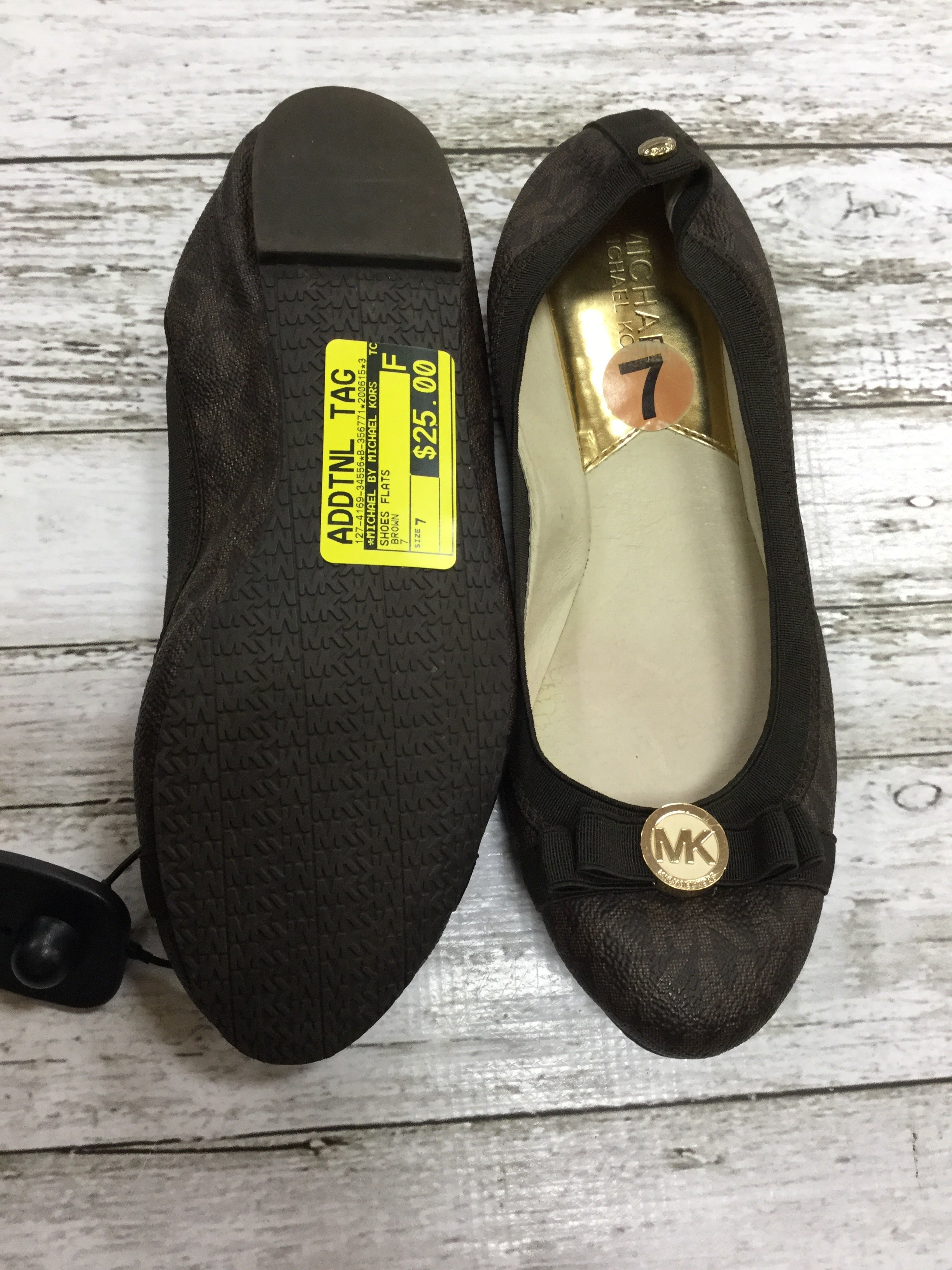 Photo #2 - BRAND: MICHAEL BY MICHAEL KORS <BR>STYLE: SHOES FLATS <BR>COLOR: BROWN <BR>SIZE: 7 <BR>SKU: 127-4169-34556