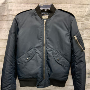 Primary Photo - BRAND: YVES SAINT LAURENT STYLE: JACKET OUTDOOR COLOR: NAVY SIZE: 44 OTHER INFO: SAINT LAURENT - SIZE 10 SKU: 127-2767-93160BOMBER JACKET
