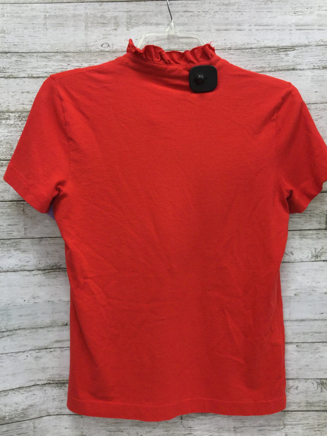 Photo #2 - BRAND: TORY BURCH , STYLE: TOP SHORT SLEEVE , COLOR: RED , SIZE: M , OTHER INFO: AS IS , SKU: 127-4876-8145, , THE COLLAR OF THIS TOP IN GENTLY USED. OTHERWISE THIS TOP IS IN GREAT CONDITION.