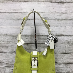 Primary Photo - BRAND: COACH STYLE: HANDBAG DESIGNER COLOR: LIME GREEN SIZE: MEDIUM OTHER INFO: NEW! SKU: 127-4876-9487THIS BAG IS NEW WITH TAGS AND IN GREAT CONDITION. THE BOLD COLOR IS PERFECT FOR ANY SEASON! A CARE KIT IS INCLUDED.