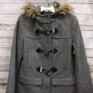 Primary Photo - BRAND: EXPRESS STYLE: COAT WOOL COLOR: GREY SIZE: M SKU: 127-2767-89262THIS WOOL COAT FROM EXPRESS IS IN GOOD CONDITION. THERE ARE SOME MINOR SCRATCHES ON THE METAL BUTTONS.