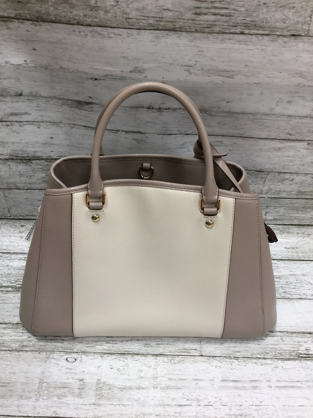 Photo #2 - BRAND: COACH <BR>STYLE: HANDBAG DESIGNER <BR>COLOR: GREY <BR>SIZE: MEDIUM <BR>SKU: 127-4942-1996