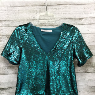 Primary Photo - SHINE BRIGHT IN THIS SEQUIN ZARA TOP.BRAND: ZARA BASIC STYLE: TOP SHORT SLEEVE COLOR: TEAL SIZE: M SKU: 127-4954-2843