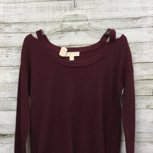 Primary Photo - BRAND: MICHAEL BY MICHAEL KORS STYLE: TOP LONG SLEEVE COLOR: MAROON SIZE: M SKU: 127-4954-2617LIGHTWEIGHT SWEATER IN VERY GOOD CONDITION.