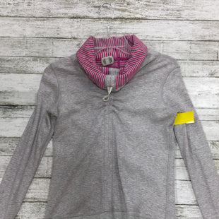 Primary Photo - BRAND: LULULEMON STYLE: ATHLETIC TOP COLOR: GREY WHITE SIZE: XS SKU: 127-4876-6378