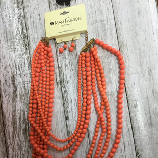 Primary Photo - BRAND:   CMC STYLE: NECKLACE SET COLOR: CORAL SIZE: 02 PIECE SET OTHER INFO: RIAH FASHION - SKU: 127-4954-58342 PIECE SET OF CORAL BEAD NECKLACE AND EARRINGS!