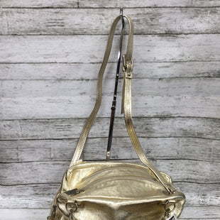 Primary Photo - BRAND:    CMD STYLE: HANDBAG LEATHER COLOR: GOLD SIZE: MEDIUM OTHER INFO: LAURA DIMAGGIO - SKU: 127-2767-89621GOLD BAG WITH ZIPPERS AND CROSSBODY STRAP!