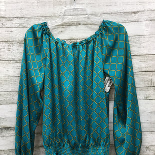 Primary Photo - BRAND: MICHAEL BY MICHAEL KORS STYLE: TOP LONG SLEEVE COLOR: TEAL SIZE: S SKU: 127-3371-43355GENTLY USED WITH SOME MINOR WEAR (SEE PHOTOS).