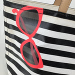 Kate Spade Striped Handbag Size Large - <P>READY FOR SUMMER? GOING TO THE BEACH? THIS SUPER CUTE KATE SPADE BLACK AND WHITE STRIPED HANDBAG IS THE PERFECT ONE FOR YOU. HAVE IT TODAY FOR ONLY $80</P>