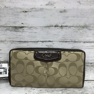 Primary Photo - BRAND: COACH STYLE: WALLET COLOR: BRONZE SIZE: SMALL SKU: 127-4876-9020THIS WALLET IS IN GOOD CONDITION. THERE IS SOME WEAR ON THE INSIDE LEATHER AND A FEW MARKS ON THE OUTSIDE (SEE PHOTOS).