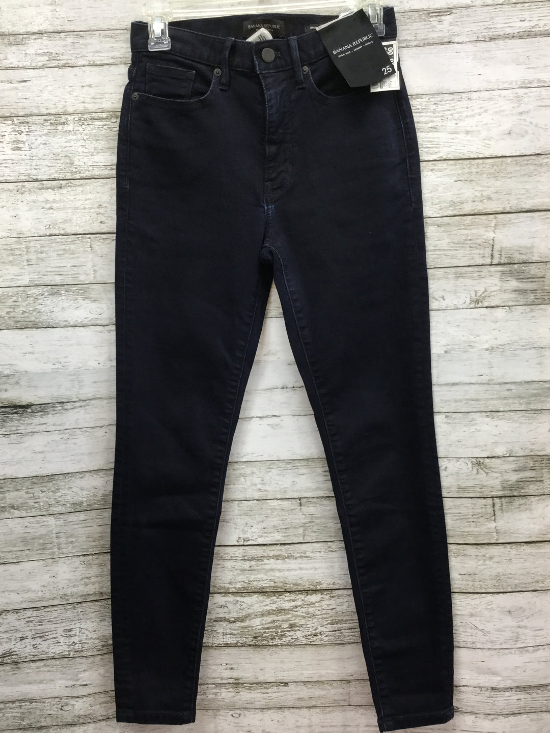 Primary Photo - BRAND: BANANA REPUBLIC , STYLE: JEANS , COLOR: DENIM , SIZE: 0 , OTHER INFO: NEW! , SKU: 127-4954-4755, , NEW WITH TAGS, HIGH RISE, SKINNY, ANKLE JEANS.