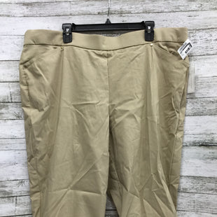 Primary Photo - BRAND: CJ BANKS STYLE: CAPRIS COLOR: KHAKI SIZE: 24 OTHER INFO: NEW! SKU: 127-4954-5544NEW WITH TAGS SHORT CAPRIS BY CJ BANKS