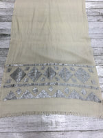 Photo #1 - BRAND: BANANA REPUBLIC O <BR>STYLE: SCARF <BR>COLOR: CREAM <BR>OTHER INFO: NEW! <BR>SKU: 127-3371-42674