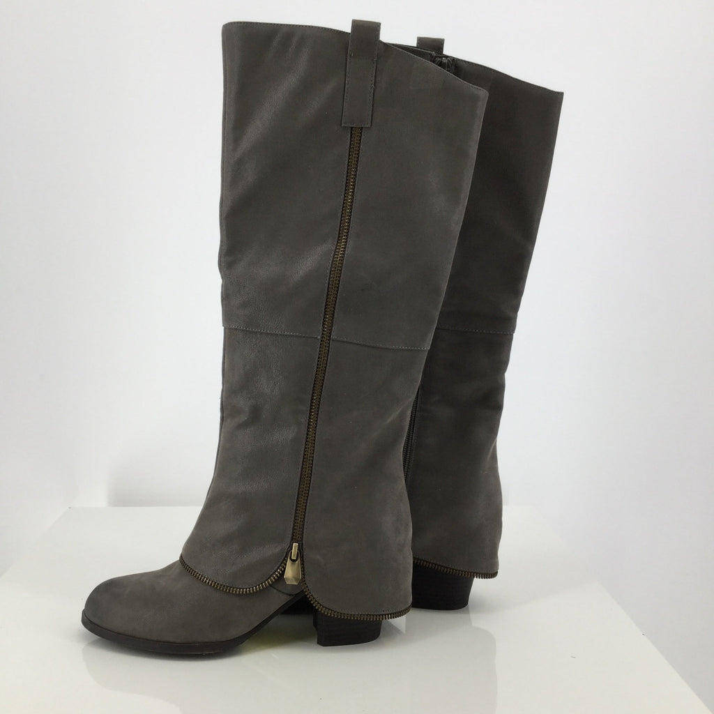Fergalicious Grey Knee Boots Size: 8.5