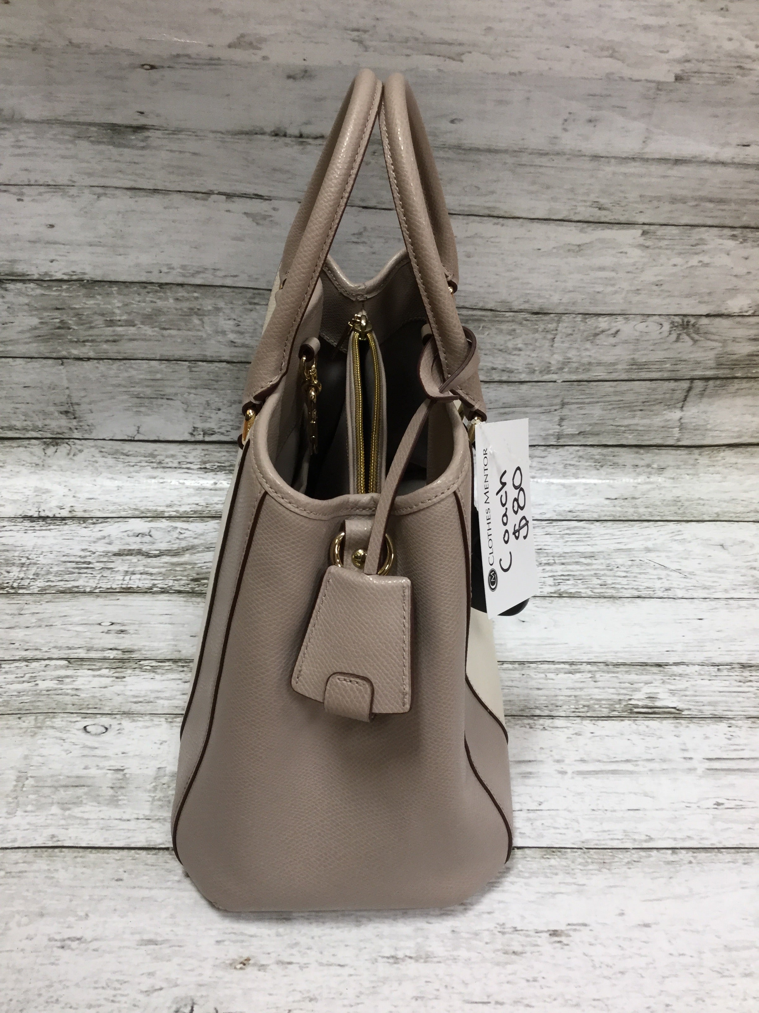 Photo #3 - BRAND: COACH <BR>STYLE: HANDBAG DESIGNER <BR>COLOR: GREY <BR>SIZE: MEDIUM <BR>SKU: 127-4942-1996