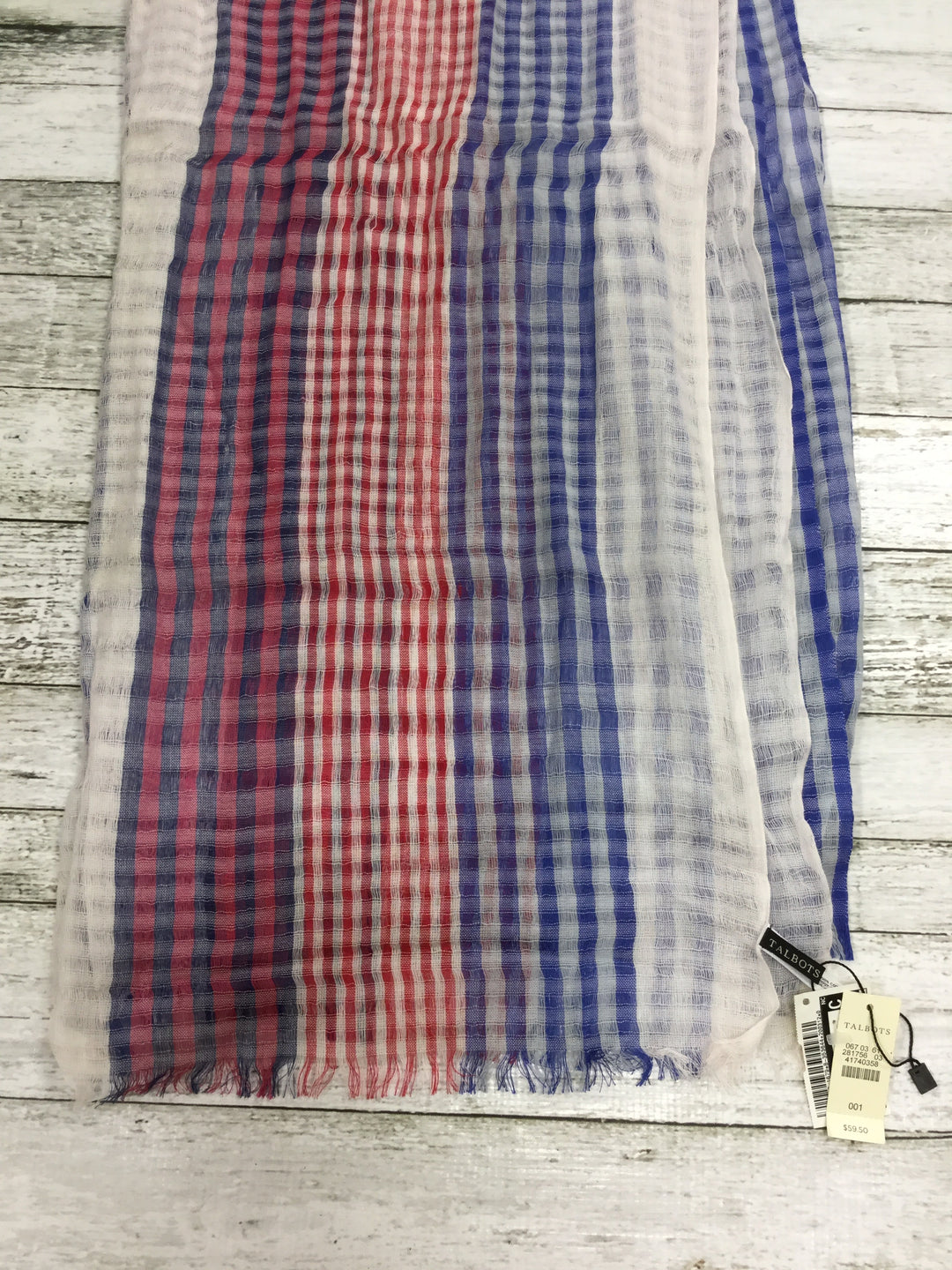 Photo #1 - BRAND: TALBOTS , STYLE: SCARF , COLOR: PLAID , OTHER INFO: NEW! , SKU: 127-4942-1679