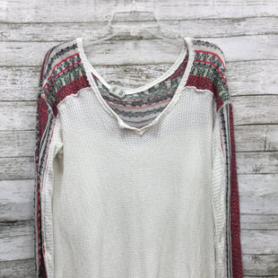 Primary Photo - BRAND: FREE PEOPLE STYLE: TOP LONG SLEEVE COLOR: WHITE SIZE: XL SKU: 127-3366-7310FREE PEOPLE DISTRESSED TOP. IN GOOD CONDITION.