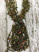 Photo #1 - BRAND:    CMD <BR>STYLE: NECKLACE SET <BR>COLOR: GREEN <BR>SKU: 127-3366-10063