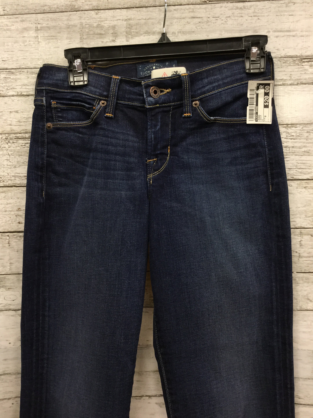 "Photo #1 - BRAND: LUCKY BRAND , STYLE: JEANS , COLOR: DENIM , SIZE: 0 , SKU: 127-4169-24084, , ""BROOKE CROP"" JEANS."