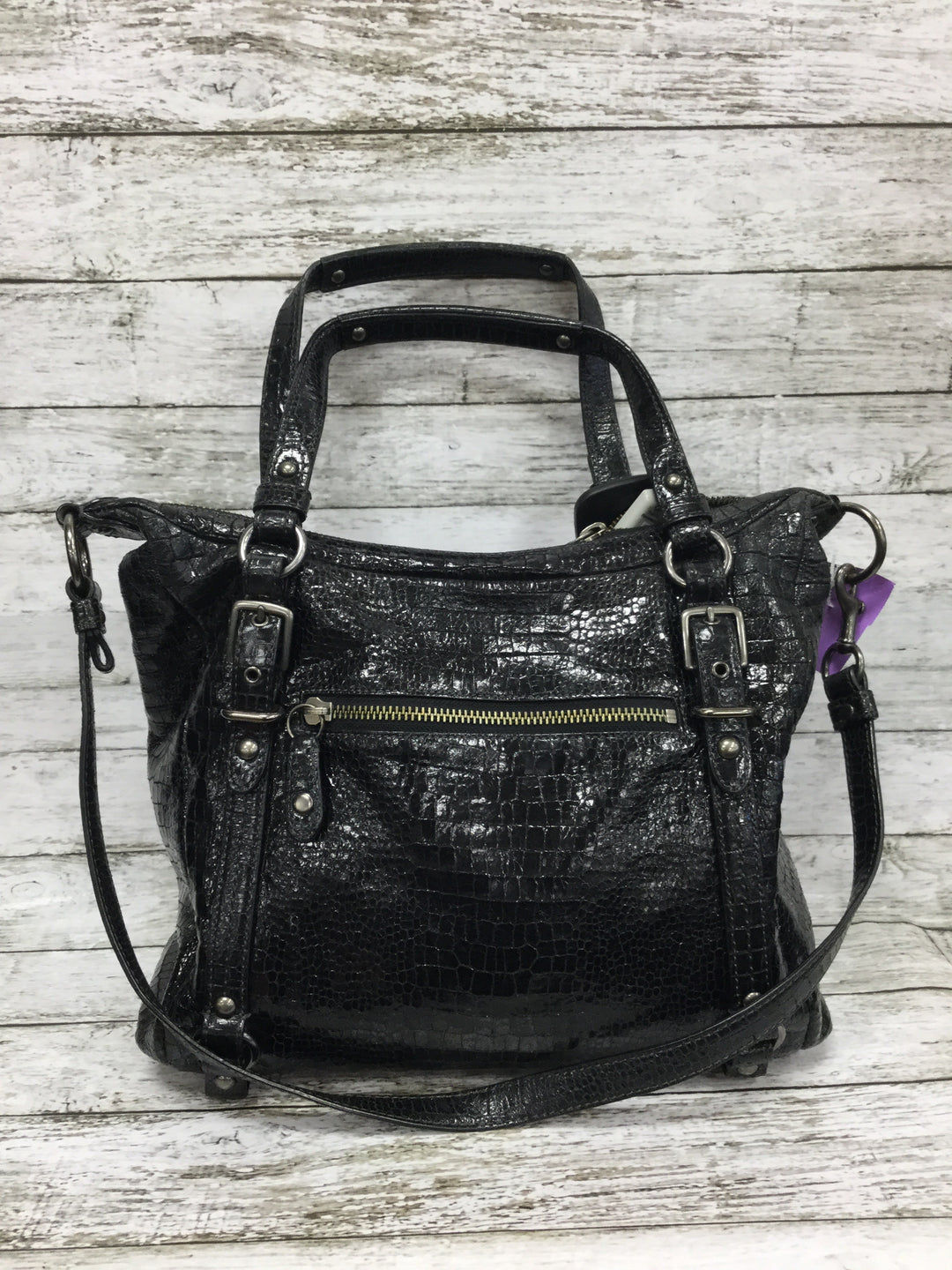Primary Photo - BRAND: COACH , STYLE: HANDBAG , COLOR: BLACK , SIZE: LARGE , OTHER INFO: ALEXANDRA , SKU: 127-4942-3300, , THIS LEATHER COACH HANDBAG IS IN VERY GOOD CONDITION WITH SOME MINOR WEAR. THE INSIDE AND OUTSIDE ARE BOTH VERY CLEAN.