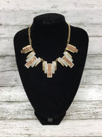 Primary Photo - BRAND:    CMD , STYLE: NECKLACE SET , COLOR: GOLD , SKU: 127-2767-89389, , NECKLACE AND MATCHING EARRINGS SET!