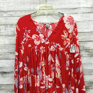 Primary Photo - BRAND: FREE PEOPLE STYLE: TOP LONG SLEEVE COLOR: RED SIZE: XS SKU: 127-4876-1784V-NECK FREE PEOPLE TOP IN GOOD CONDITION.