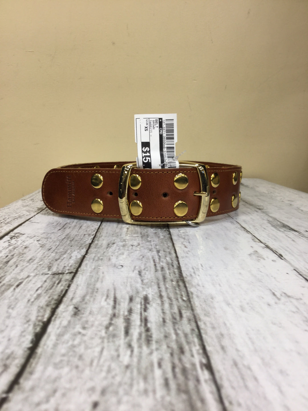 Photo #1 - BRAND:    CMD <BR>STYLE: BELT <BR>COLOR: BROWN <BR>SIZE: XS <BR>OTHER INFO: HAMMITT - <BR>SKU: 127-3371-36506