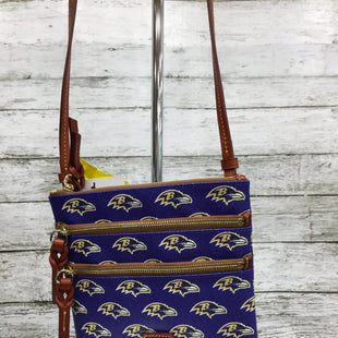Primary Photo - BRAND: DOONEY AND BOURKE STYLE: HANDBAG DESIGNER COLOR: ROYAL BLUE SIZE: SMALL OTHER INFO: CROSSBODY SKU: 127-4954-4948THIS BALTIMORE RAVENS DOONEY AND BOURKE BAG IS IN LIKE-NEW CONDITION.