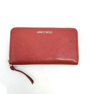 Jimmy Choo Wallet Size:medium - RED JIMMY CHOO ZIPPERED WALLET WITH GOLD DETAILING. RED INTERIOR WITH ZIPPERED POCKET AND MANY CARD SLOTS..