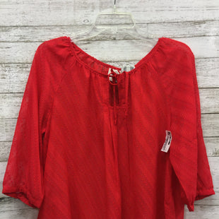 Primary Photo - BRAND: ST JOHNS BAY STYLE: TOP LONG SLEEVE COLOR: RED SIZE: L SKU: 127-2860-2718IN EXCELLENT CONDITION.