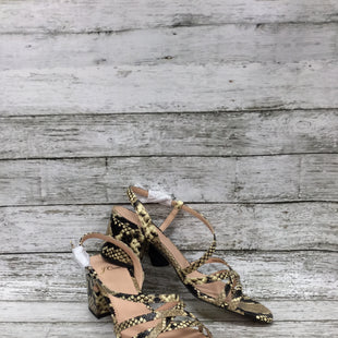 Primary Photo - BRAND: J CREW STYLE: SANDALS COLOR: ANIMAL PRINT SIZE: 7.5 OTHER INFO: NEW! SKU: 127-4876-8728STRAPPY J CREW BLOCK HEELED SANDALS IN SNAKE PRINT!